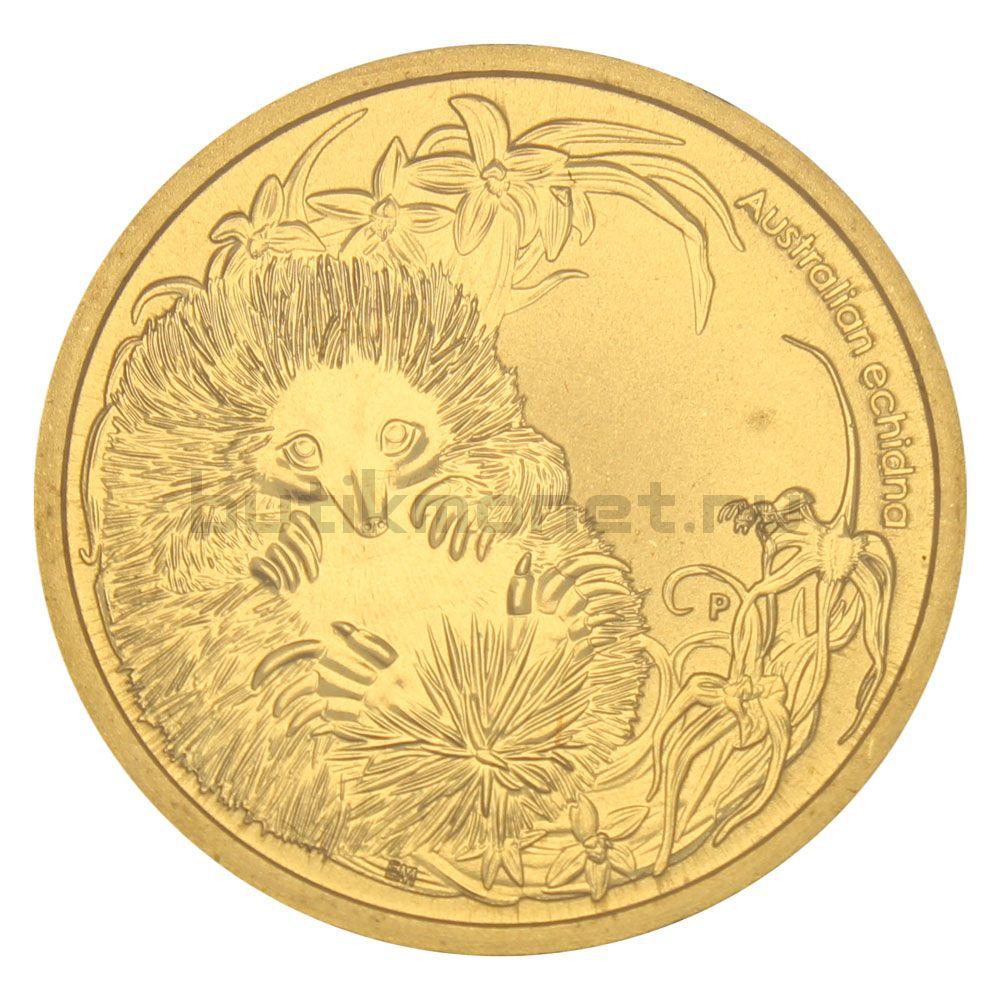 1 доллар 2013 Австралия Ехидна (Детёныши диких животных)