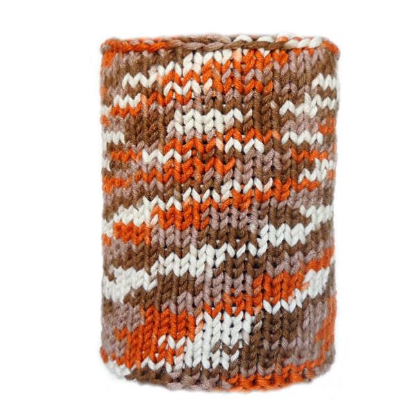 Вязаный шарф из толстой пряжи