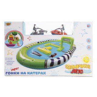Игр.набор Забавные гонки, водный скутер р/у 2шт., эл.пит.не вх.в комплект, аксесс., коробка