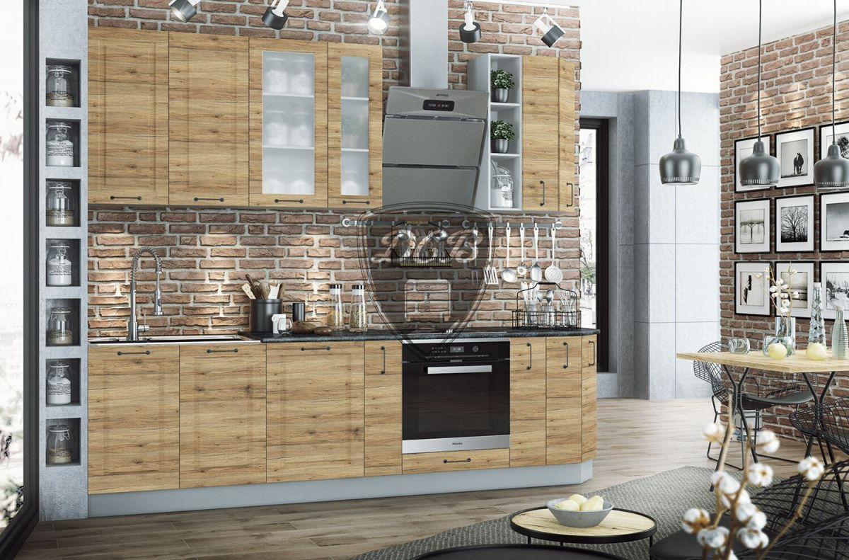 Кухонный гарнитур Капри 2,7м Дуб цикорий