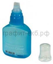 Клей 50мл Pentel Brush Glue с кисточкой ERB50-M