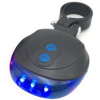 Велосипедный фонарь-лазер Laser Tail Light, 2 в 1, синий