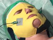 Микротоковая токопроводящая маска электрод для омоложения и подтяжки лица. www.sklad78.ru
