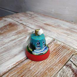 Валдайский колокольчик расписной №4 (синий)
