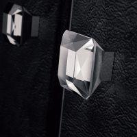 Ручка кноб Glass Design DIamond Pull. хром полированный/прозрачный кристалл