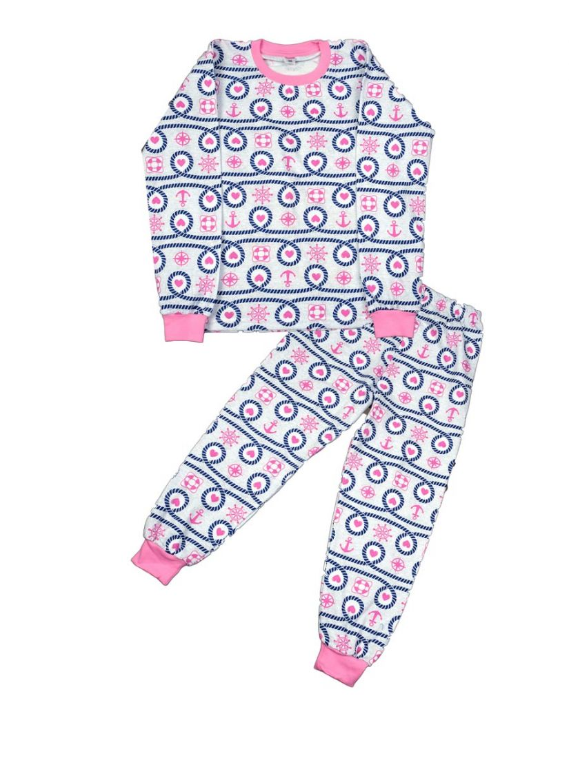 Теплая пижама для девочки Морячка