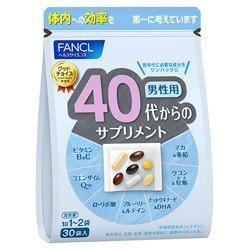 Fancl 40 витамины для мужчин, на 30 дней.