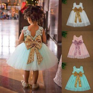 платье фатин , кружево, модель 27, рост 120 см. Белое, зелёное