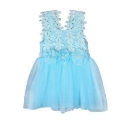 платье кружевное , пышная юбка сатин, модель 30, рост 130
