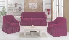 """Набор чехлов для дивана """"BULSAN"""" + 2 кресла  (фуксия) Арт.1799-12"""