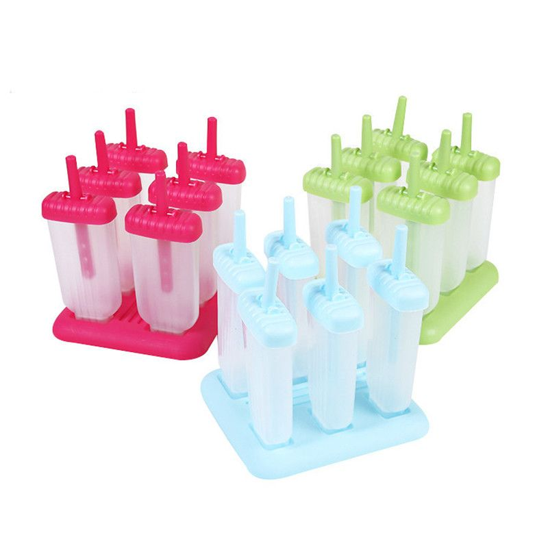 Форма для фруктового льда и мороженого на съёмной подставке, 6 шт
