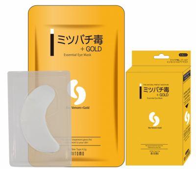 Mitomo Патчи для глаз Пчелиный яд + Золото