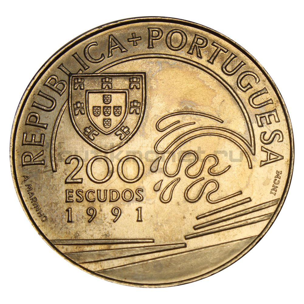 200 эскудо 1991 Португалия Христофор Колумб в Португалии