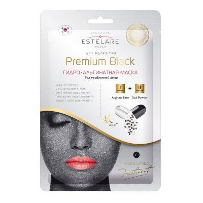 Estelare ГИДРО-Альгинатная маска Premium BLACK для проблемной кожи