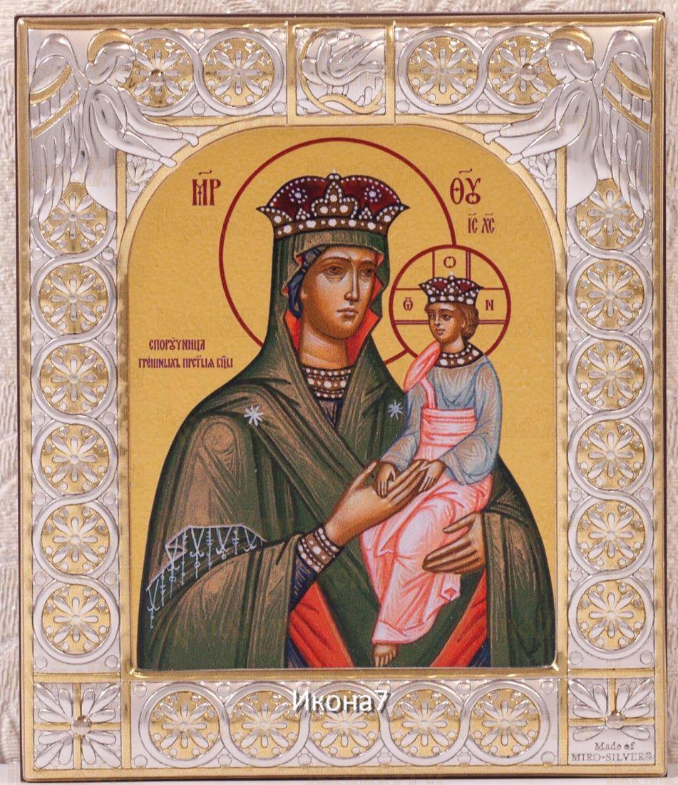 Споручница грешных икона Божией Матери (9х10,5см)