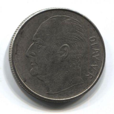 1 крона 1971 года Норвегия VF