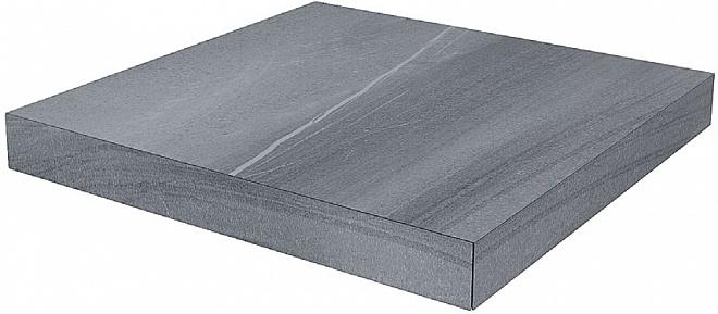 DL500500R/GCS | Ступень угловая клееная левая Роверелла серый