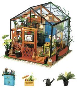 Набор для создания интерьера в миниатюре(Румбокс) «Цветочная Оранжерея» 19.5*17.5*17см.