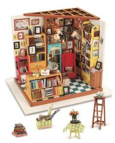 Набор для создания интерьера в миниатюре(Румбокс) «Книжный магазинчик» 22.5*18.5*18см.