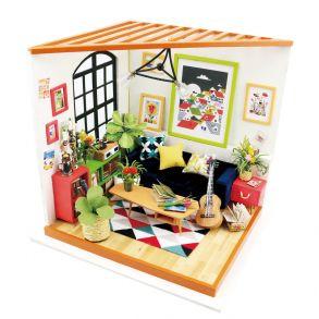 Набор для создания интерьера в миниатюре(Румбокс) «Гостиная музыканта» 20*18.5*18.7см.