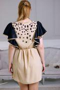 платье с рукавами-крылышками