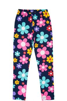 """Леггинсы для девочек 3-7 лет Bonito kids """"flowers"""" темно-синие"""