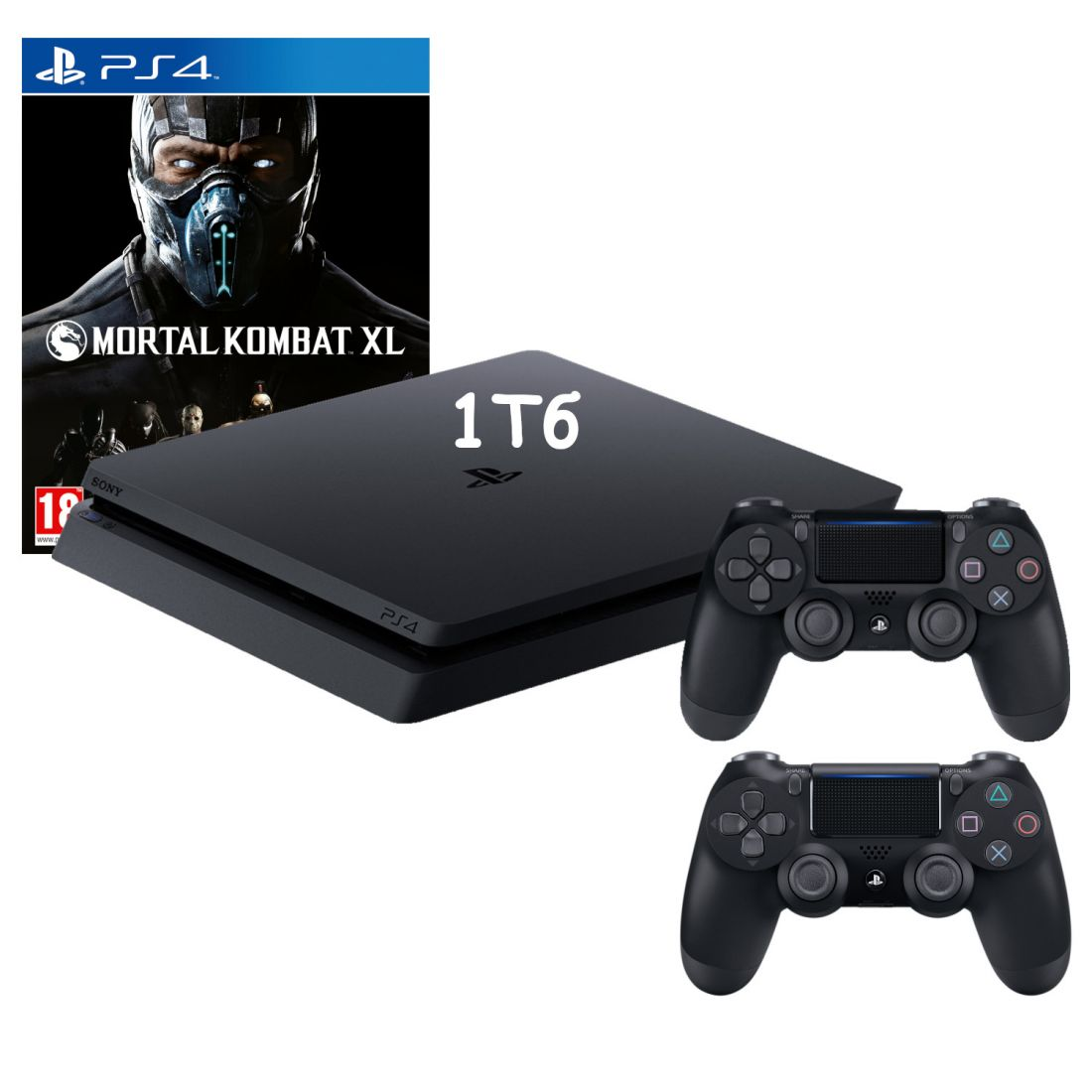 Sony PlayStation 4 Slim 1 Тб + Доп. джойстик и игра Mortal Kombat XL