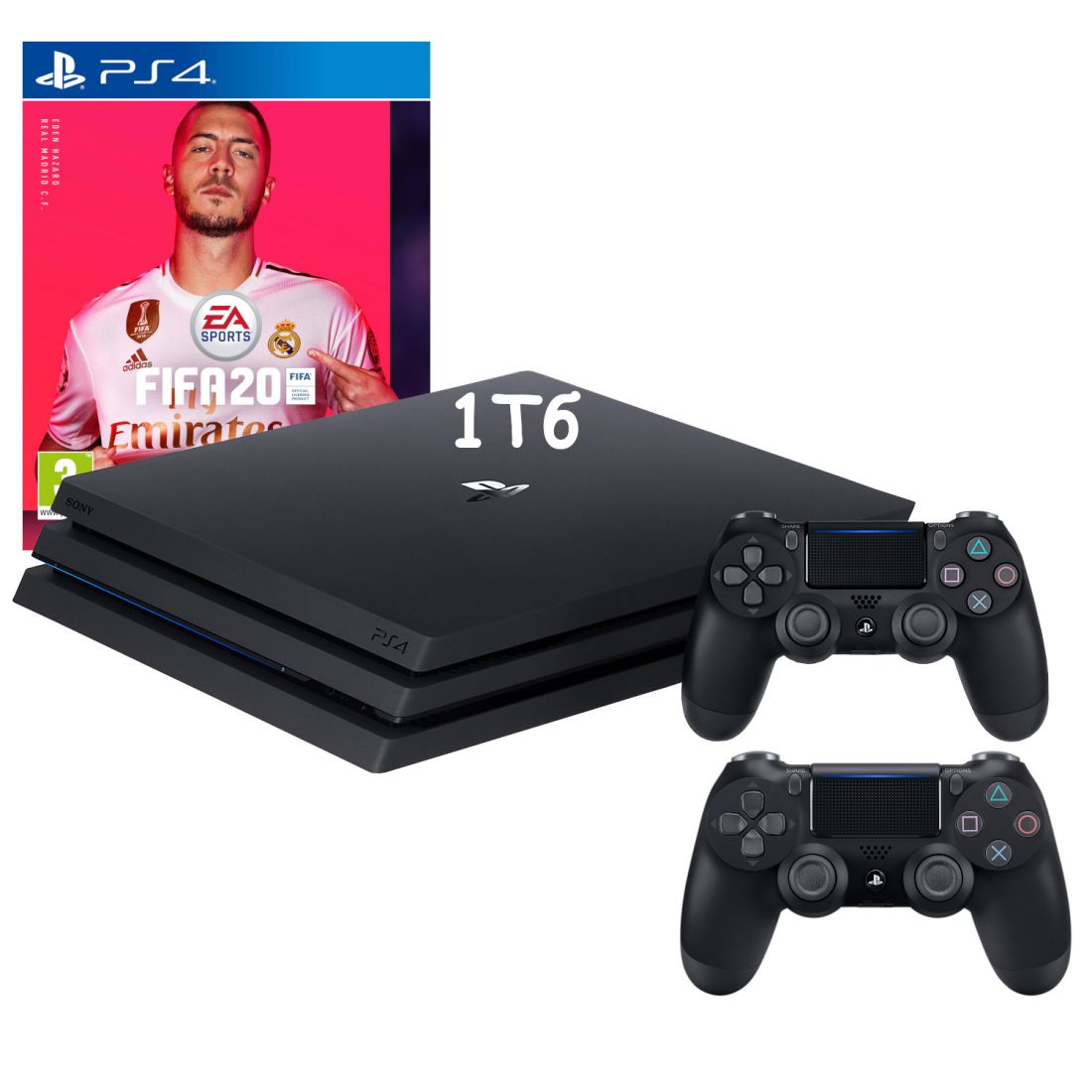 Sony PlayStation 4 Pro 1Tb + 2й джойстик + игра FIFA 20
