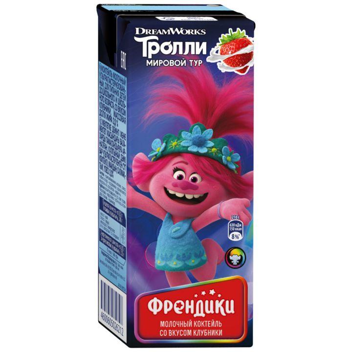 Коктейль Френдики клубника 2,5% 210г Юнимилк