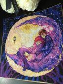 """Схема для вышивания крестиком """"Теплая ночь"""". Отшив."""