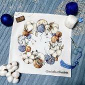 "Digital cross stitch pattern ""Cotton cats""."