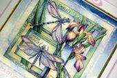 "Cross stitch pattern ""Night dragonflies""."
