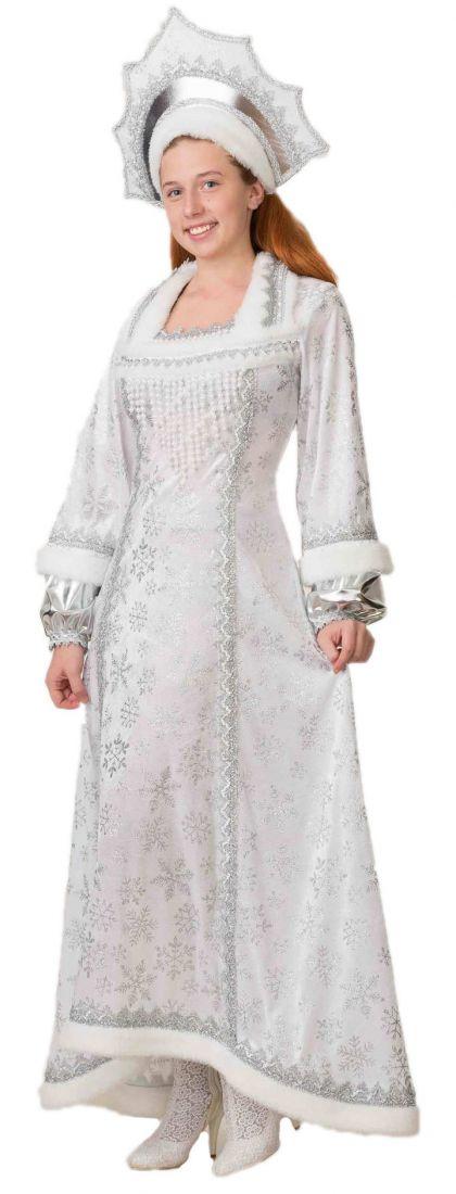 Взрослый костюм Снежной Снегурочки