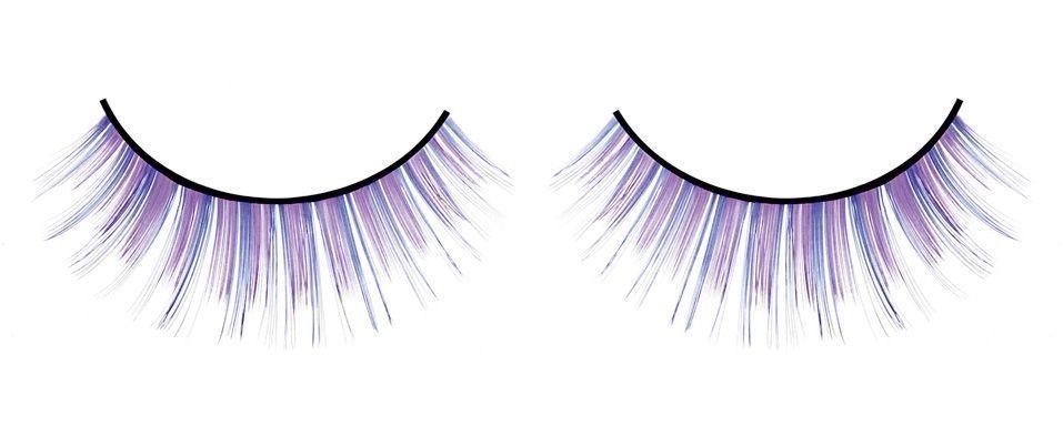 Ресницы фиолетово-синие