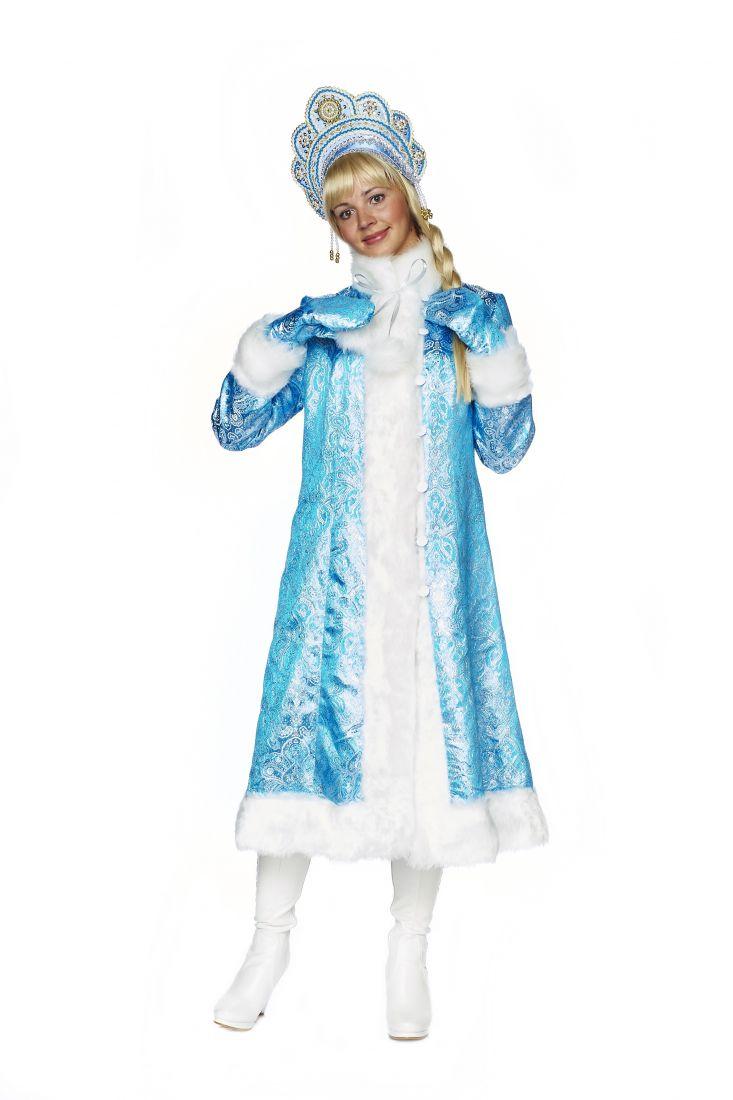 Костюм снегурочки синий с узорами