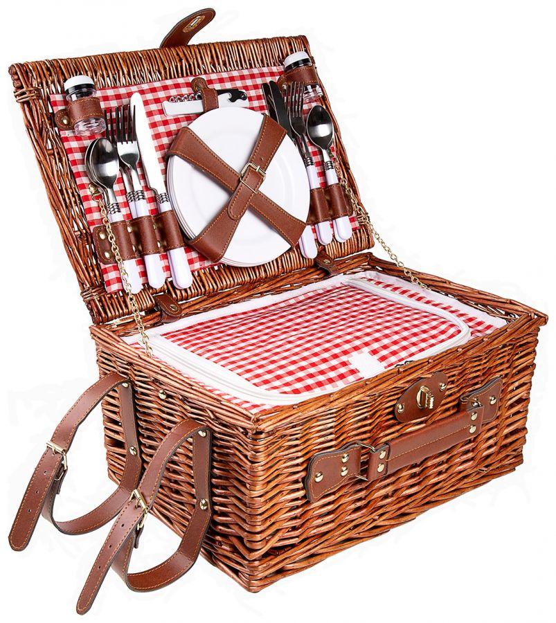 Набор для пикника на 4 персоны Kuchenland Box Picnic 40х28х20 см HQCF-74009