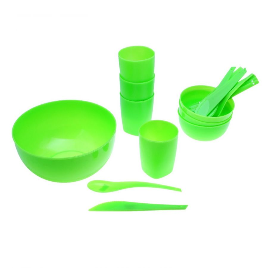 Набор для пикника пластиковый Plastic Centre Отдых на 4 персоны 17 предметов