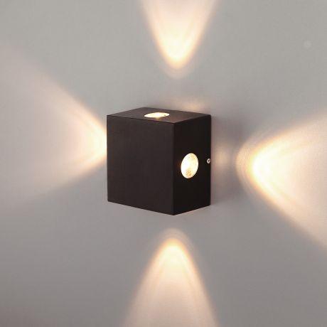 1601 TECHNO LED / Светильник садово-парковый со светодиодами Kvatra черный