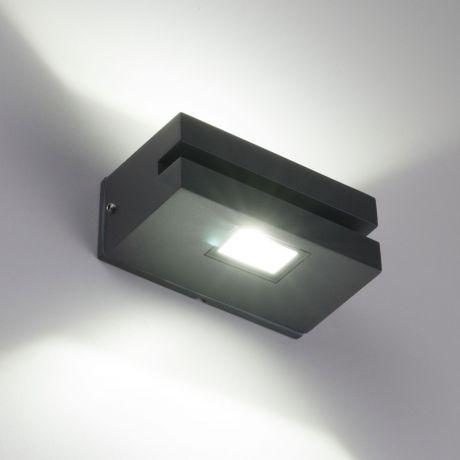 1611 TECHNO LED / Светильник садово-парковый со светодиодами алмазный серый NEREY