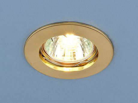 863 MR16 GD / Светильник встраиваемый золото