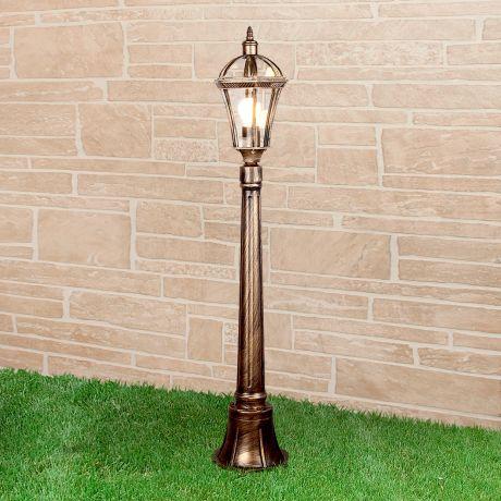 Capella F / Светильник садово-парковый черное золото