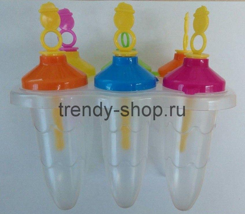 Овальные формы для фруктового льда и мороженого, 6 шт
