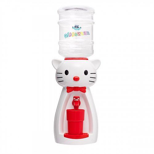 Кулер детский для воды Акваняня Кошка белая с красным