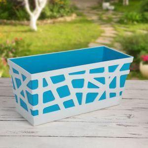 Ящик балконный «Мозаика», 40?17?18,5 см, цвет синий
