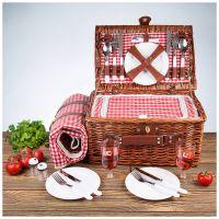 Набор для пикника на 4 персоны Kuchenland Box Picnic 40х28х20 см HQCF-74009 фото2