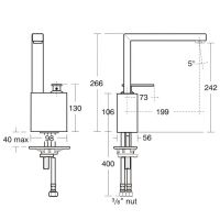 Смеситель Jado Cubic для кухни F1686AA