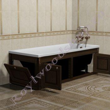 """Экран для ванны """"Челси-2 складной, орех"""""""