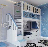 Кровать двухъярусная Домик Fairy Land Santana №12А, Массив