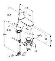 Kludi Ambienta смеситель для раковины 530230575