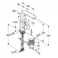 Kludi Zenta смеситель для раковины 420250575